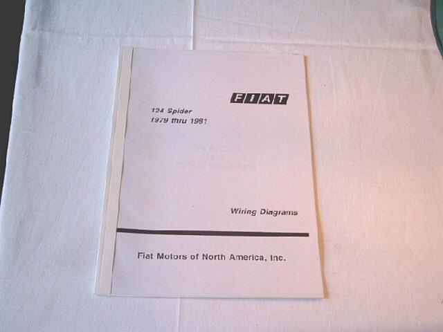Wiring Diagram 124 Spider 1979-81