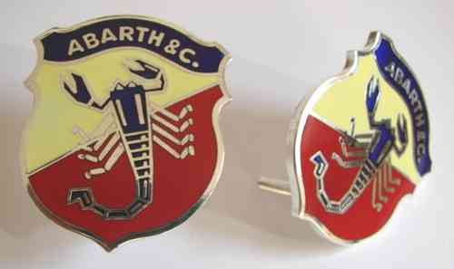 Emblem  ABARTH 50 mm emaillert